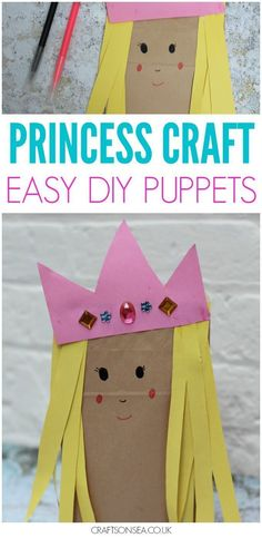 Paper Bag Princess Craft for Kids Like a bit of upcycling? Paper bag crafts are easy and cheap to make and this sweet princess craft for kids is perfect as a DIY puppet too The post Paper Bag Princess Craft for Kids appeared first on Paper Diy. Fun Craft, Craft Activities, Preschool Crafts, Craft Ideas, Camping Activities, Summer Activities, Craft Tutorials, Craft Projects, Diy Paper Bag