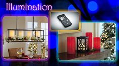 Innovation IlluminationTrend:  Framework Chandelier/ Centerpiece  LED Pillar Remote Control
