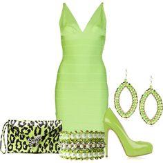 dress contest, green dress, lime dress