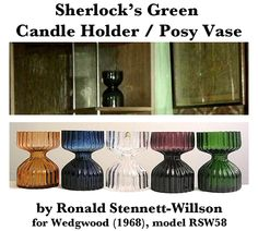 Green Posy Vase/Candle Holder