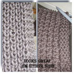 free knit pattern for a reversable scarf
