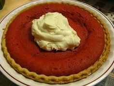 Red Velvet Cookie Cake Pie