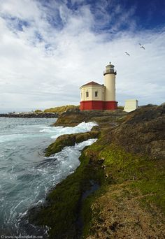 Coquille River Lighthouse, Bandon, Oregon. My grandparents always loved to take us to Bandon when we visited them in Oregon.