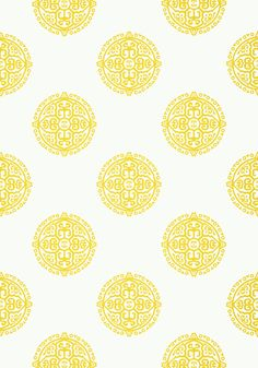 HALIE CIRCLE, Yellow, T36168, Collection Enchantment from Thibaut