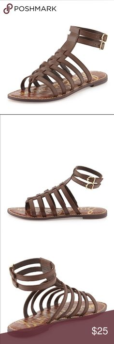 Sam Edelman Gladiator Sandals ▪️Details: San Edelman Gladiator Sandals Brown Buckles Strappy Worn a few times  ▪️Size: 7.5 📍Ships from Los Angeles, CA  📬Ships within 1-2 business days Sam Edelman Shoes Sandals