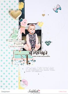 Scrapbook Werkstatt Love the white space and subtle accent colors.