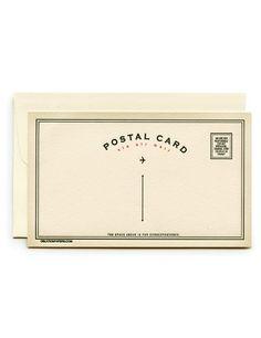 Letterpress Flat Note Cards, Postal Card