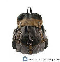 Leather Canvas Bag Laptop Bag Men's Canvas Bag Color: gray Material:canvas, leather Size: 34*47*15 cm Closure: drawstring Pocket: mobile telephone pocket, zipper pocket How to Wash a Backpack