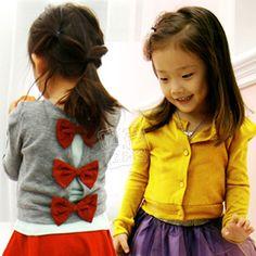 2013 spring girls clothing baby child bow cardigan wt-0968 $10.61