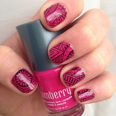 Lost Ruins wrap over Kiss laquer.   Kristina, Independent Jamberry Nail Consultant - Shop at: www.jamberrybykristina.jamberrynails.net