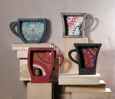 Coffee Cup Shelf In three colors! www.saffronalder.com