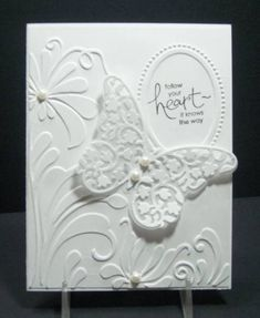 case using SU products Designer Frames and Elegant Bouquet E F's, Beautiful Wings embosslit