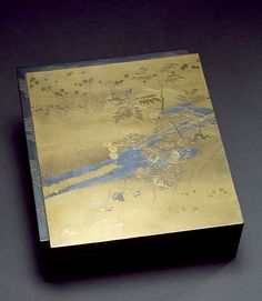 Meiji era Japanese Box for Poem Papers - The Walters Museum of Art Japanese Beauty, Japanese Art, Chinese Poem, Meiji Era, Gold Confetti, Treasure Boxes, Fall Flowers, Decoration, Dream Big