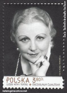 znaczki ludzie kina i teatru       Mieczysława ĆWIKLIŃSKA