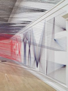 Artists Insomnia Leads to Large Scale Thread Installation | Yellowtrace String Installation, Art Installations, Visual And Performing Arts, Thread Art, Building Art, Tag Art, String Art, Insta Art, Typography Design