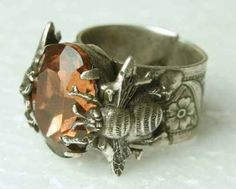 Honey Bee Ring- for the Queen Bee