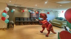 Life Size T-rex from Party City  #Dinosaurs #dinosaurparty #themeparty #boysbirthday