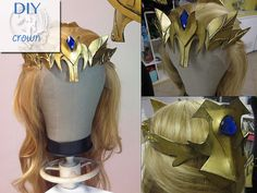 How to make Princess Zelda Armor : Crown » Firefly Path  With links to making a belt and paldrons!