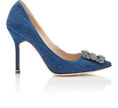 Just in case those blue satin ones SJP had were too fancy for ya!                                     Manolo Blahnik $965 | Barneys New York