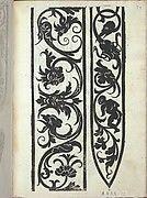 Libro quarto. De rechami per elquale se impara in diuersi modi lordine e il modo de recamare...Opera noua, page 9 (recto)