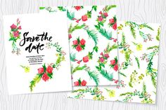 FREE DOWNLOAD! Check out Wedding watercolor floral kit by Vera Holera on Creative Market