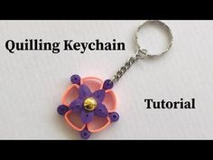 How To Make Quilling Keychain At Home Quilling Keychains, How To Make Keychains, Paper Quilling, Collections, Make It Yourself, Personalized Items, Creative, Youtube, Crafts