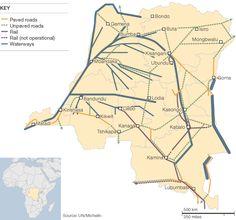 transport map DRC DR Congo Africa transportation map. Africa international adoption