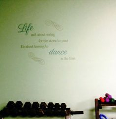 A gym used this as inspiration, love it!  http://www.wallstickeroutlet.com/wall-decor-detail.php?RecordID=512755