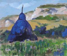 Haystacks blue (but not sad:)) - sketch Art Prints, Colorful Art, Original Paintings, Artfinder, Wall Art, Painting, Art, Pictures, Original Artwork