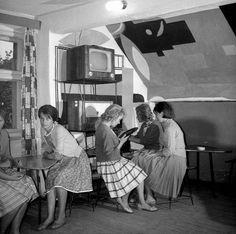 Klub wiejski 1962, fot. Tadeusz Rolke