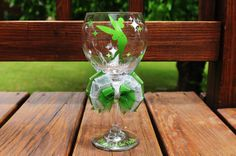Disney Princess Peter Pan Tinkerbell Wine Glass Bride Bridesmaid Maid of Honor Wine Glass on Etsy, $24.99