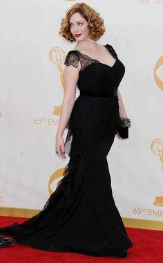christina hendricks. #emmysbestdressed