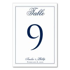 Elegant Navy Blue and White Wedding Table Numbers #wedding #suites #reception #party