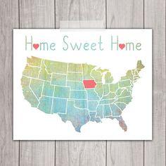 Home Sweet Home - 8x10 Iowa