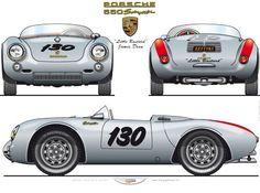 Little Bastard Porsche Porsche 550, Porsche Autos, Porsche 356 Speedster, Bmw Autos, Porsche Cars, James Dean, Fusca German Look, Automobile, Audi