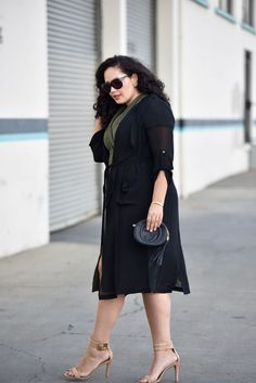 Wrap Dress, Chiffon Trench Coat