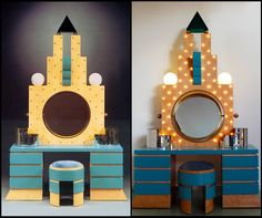 """The """"Plaza"""" vanity/dresser by Michael Graves for Memphis '81 showing the Art Deco influence on Memphis design."""