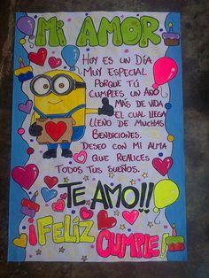 Pancartas  Venezuela Whatsapp 04149758612 #pancarta #hechoamano #novios #cumpleaño Bf Gifts, Best Friend Gifts, Love Gifts, Boyfriend Anniversary Gifts, Boyfriend Birthday, Boyfriend Gifts, Diy Birthday, Happy Birthday, Birthday Gifts