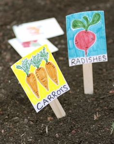 It's spring--time to get outside and dig! Once seeds go into the ground, invite your kindergartener to mark the spot in style.