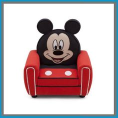 Grandma's Craft And Cooking Corner: Disney Mickey Figural Upholstered Chair