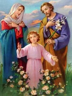 Holy Family Pictures, Jesus Pictures, Jesus Jose Y Maria, Doctor Costume, Jesus Wallpaper, Jesus Christ Images, Jesus Painting, Russian Folk Art, Family Painting