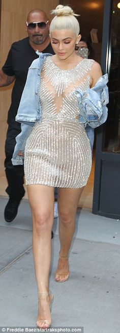 Blonde ambition: Kylie recently dyed her locks platinum, and on this occasion…