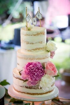 Rustic, naked cake by Philomena Bake Shop
