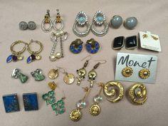 Vintage Earring Lot Coro Napier Monet Marvella in Jewelry & Watches, Vintage & Antique Jewelry, Costume | eBay