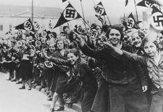 League of German Girls celebrating the German annexing of Austria (1938)