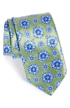 Men's Ermenegildo Zegna Floral Silk Tie