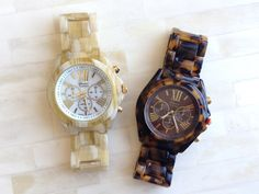 tortoise shell and horn watches