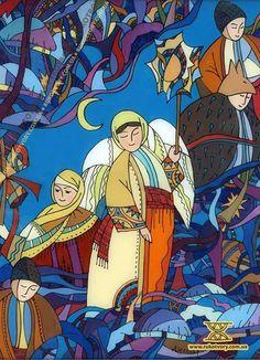 Ukrainian painting on glass by Natalia Dihtyar