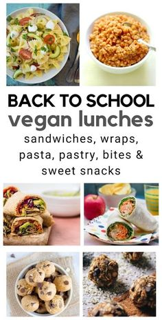 Back to School Vegan Lunches for Kids. Easy vegan lunch ideas to add to kids lunch boxes. #backtoschool #veganlunches #vegankids #vegankidsrecipes #vegankidslunches #backtoschool #veganbacktoschool #veganpackedlunch #veganlunchbox #veganlunch #backtoschoolrecipes #backtoschoollunch Vegan School Lunch Ideas For Kids, Easy Meals For Kids, Kids Meals, Easy Vegan Lunch, Vegan Lunches, Easy Cooking, Cooking Recipes, Easy Recipes, Vegetarian Recipes