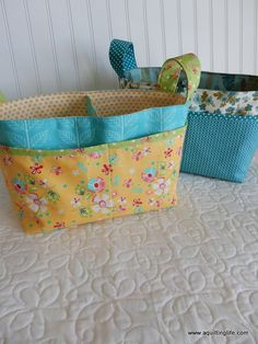 A Quilting Life - a quilt blog: Fabric Baskets from Noodlehead pattern